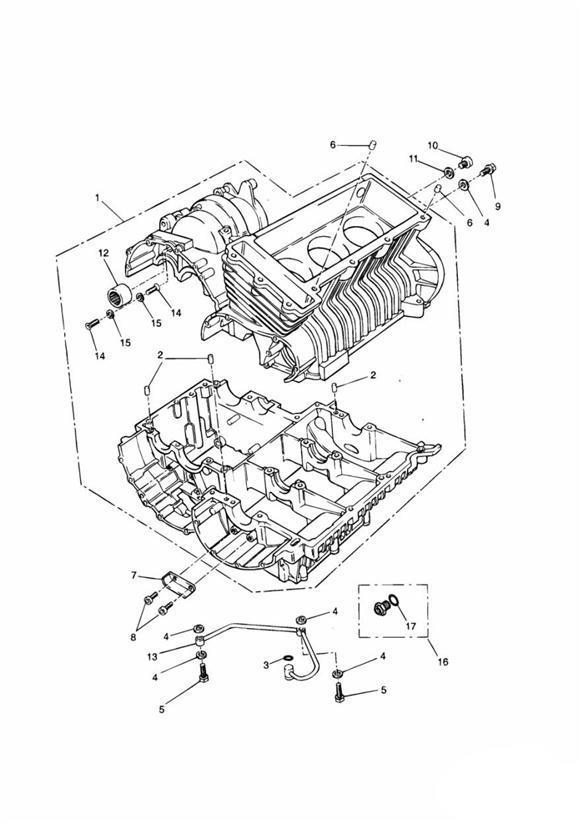 2017 Triumph Thunderbird C/sunk Hd Screw. M6 x 14mm
