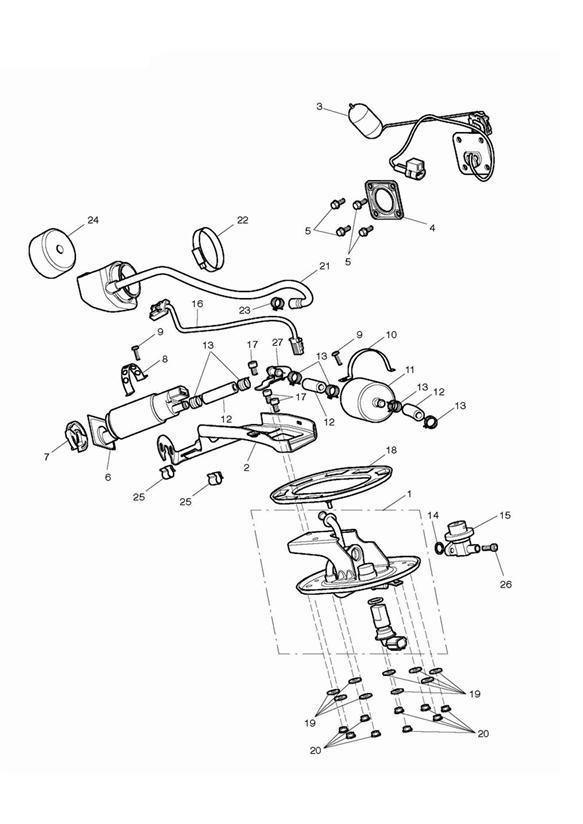 2018 Triumph Thunderbird Baffle, Fuel Pump. System