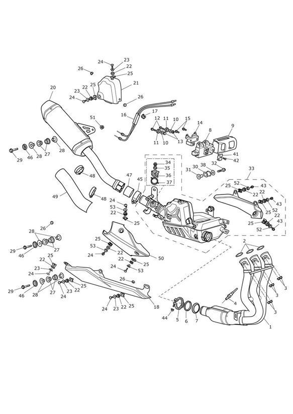 2012 Triumph Daytona Silencer Assy, Exhaust. System, Fuel