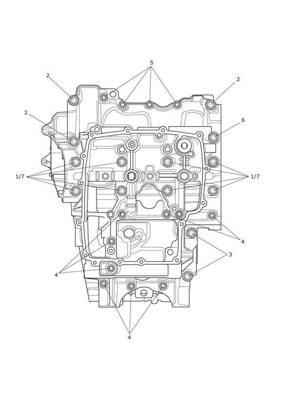 2013 Triumph Tiger Bolt, HHF, M8 x 105, Slv. Engine