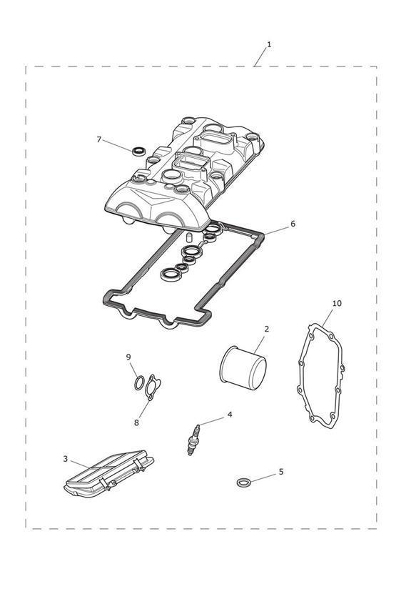 2013 Triumph Tiger Gasket, Crank Cover. Tools, Service