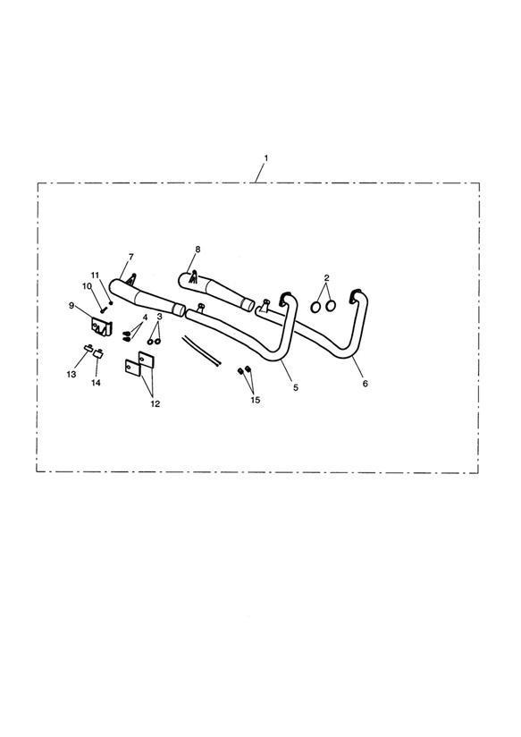 2007 Triumph Bonneville Exhaust System Assy, Arrow 2:2