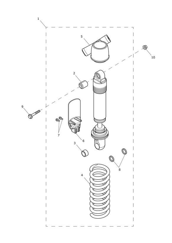 2018 Triumph Tiger Preload Adjuster, Manual. Suspension