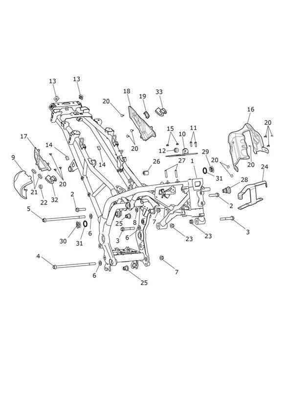2014 Triumph Tiger Blank Plug, Switch. Equipment, Body