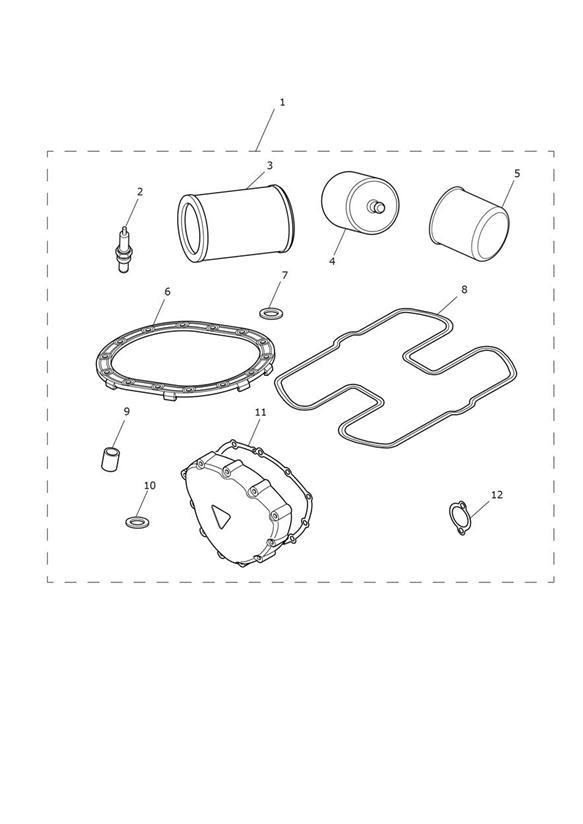2010 Triumph Speedmaster Seal, Cam Cover. Eng No 456552