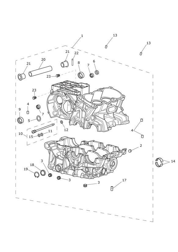 2013 Triumph Tiger Insert, Round, Plastic. Engine