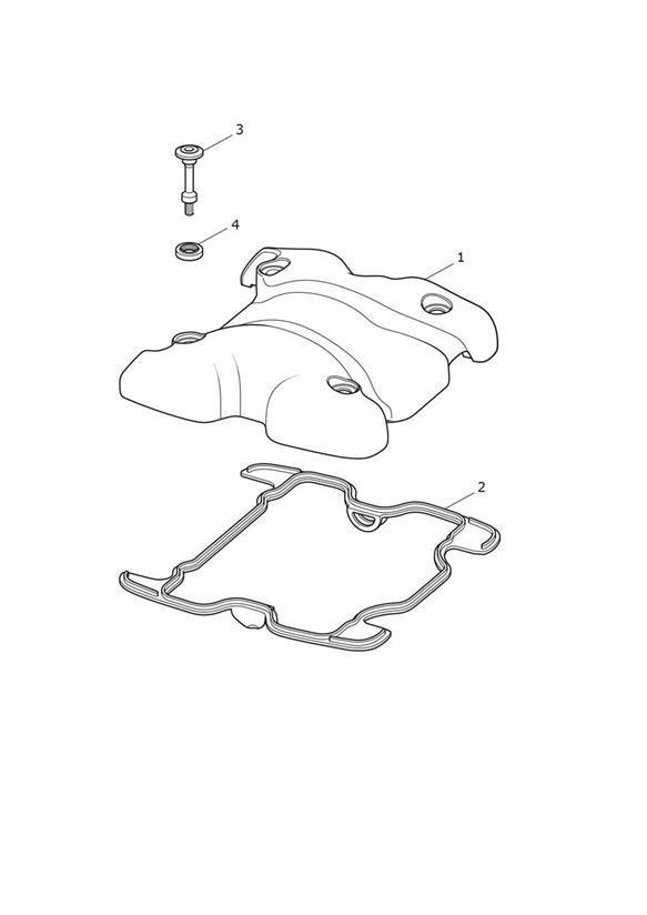 2017 Triumph Bonneville Bobber Cam Cover, Graphite. Engine