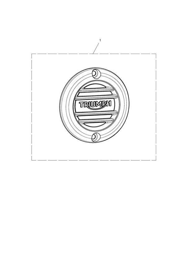 2017 Triumph Bonneville Bobber Clutch Badge, Ribbed