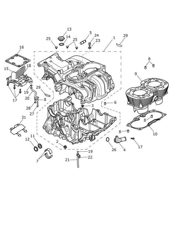 2017 Triumph Bonneville Bobber Breather Drain Pipe. Engine