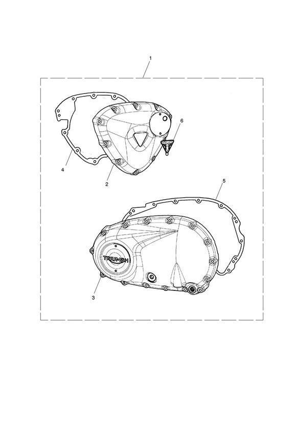 2017 Triumph Bonneville Bobber Clutch Cover Assy, Brushed