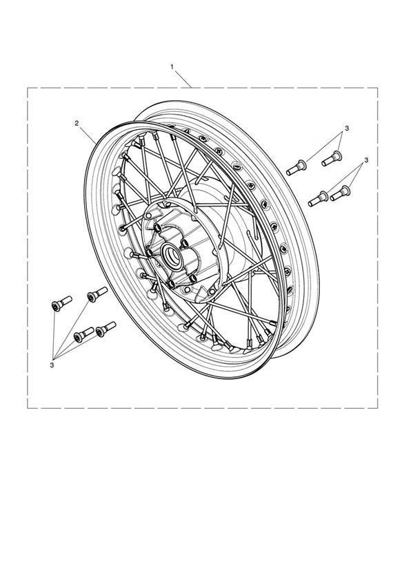 2018 Triumph Bonneville Speedmaster Rear Wheel Assy