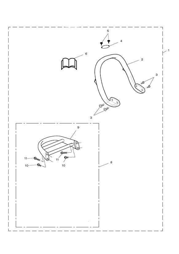 1998 Triumph Legend TT Fitting instructions. Luggage, Grab