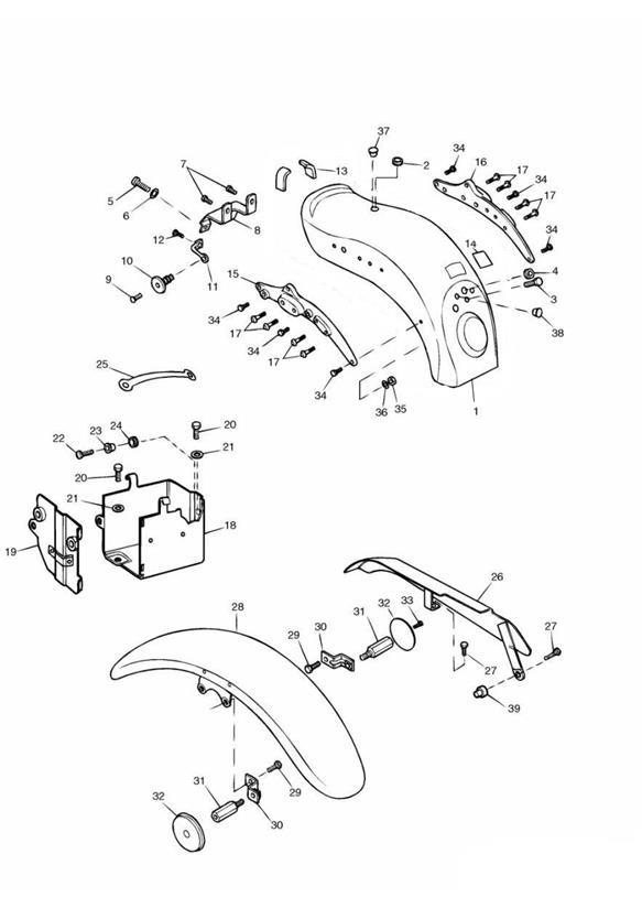 1999 Triumph Adventurer Battery box assembly. 161318