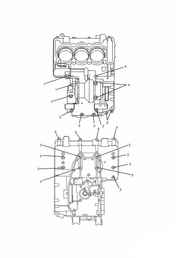 2005 Triumph Daytona Screw. M8 x 65mm Black Engine No