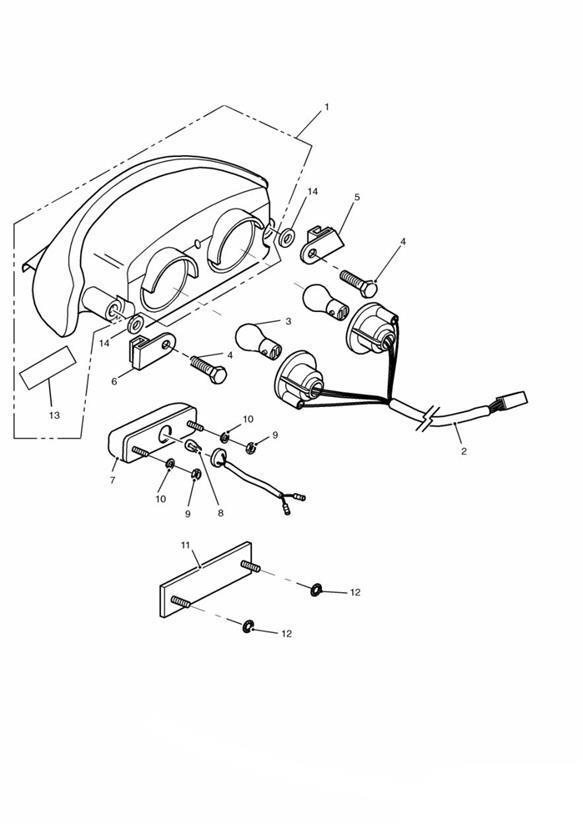 2000 Triumph Daytona Washer lock. System, Rear, Lamps