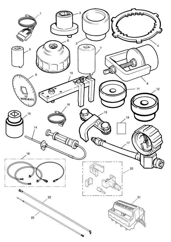 1997 Triumph Daytona Wrench, Swinging Arm Lock. Tools