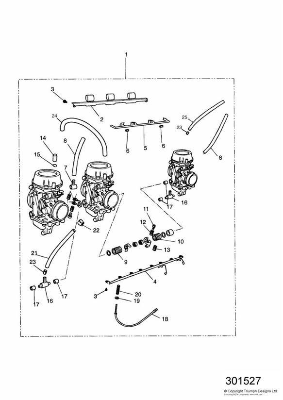 1993 Triumph Daytona Spring. Carburettors, ENG, Cylinder