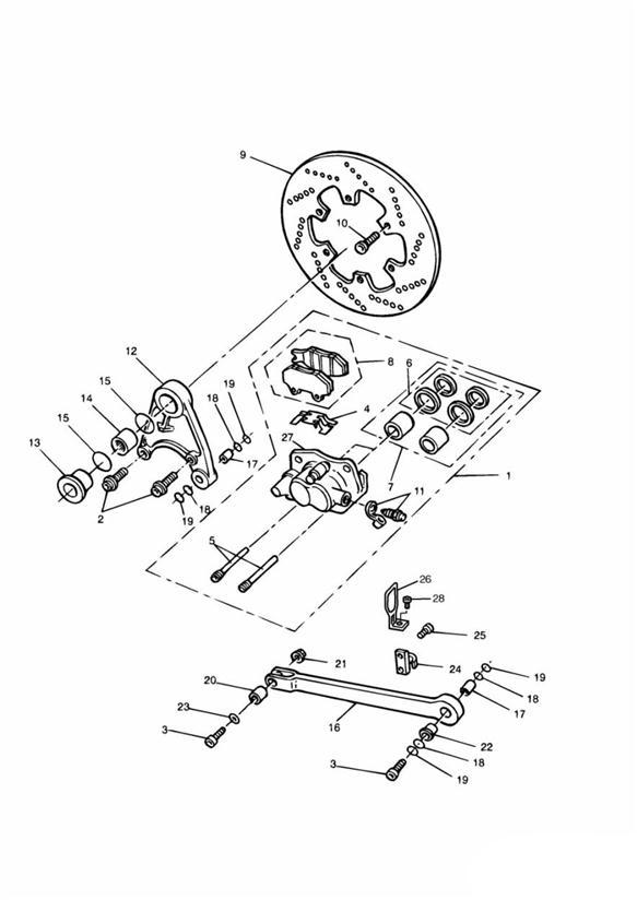 1992 Triumph Daytona Screw, Torx, Pan Head, M6 x 1 x 16