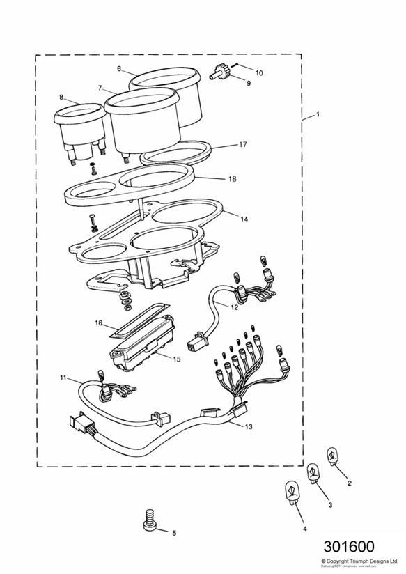 1993 Triumph Daytona Screw. Instruments, System