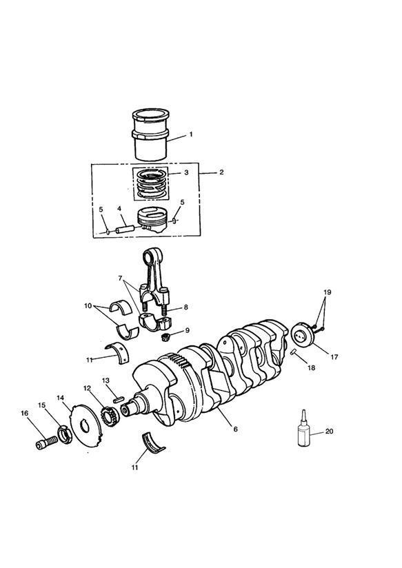 1996 Triumph Daytona Piston assembly. Cylinder, Cyl