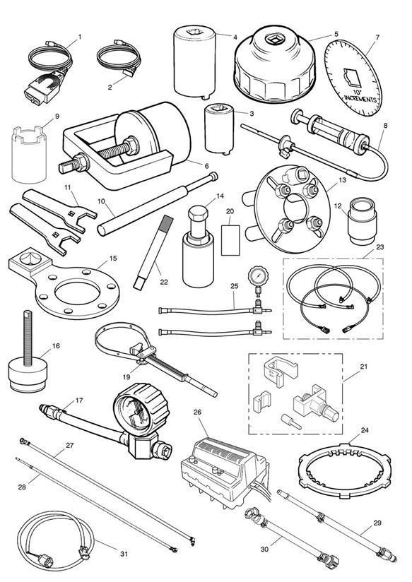 2002 Triumph Daytona Wrench. Engine mounting. Tools