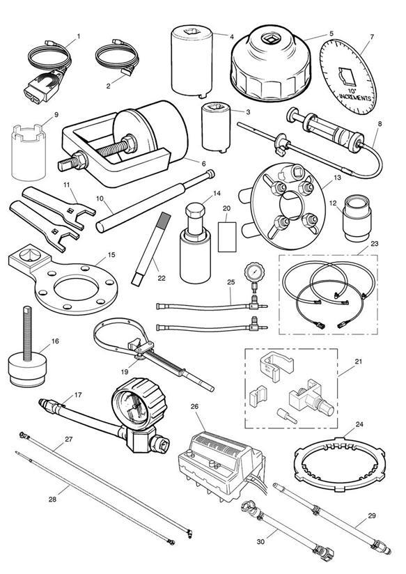 2004 Triumph Daytona Wrench. Swinging Arm Adjuster. Tools