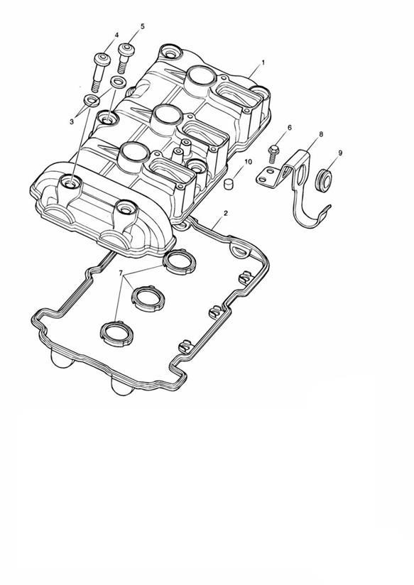 2006 Triumph Daytona Bracket, Airbox. Engine, System