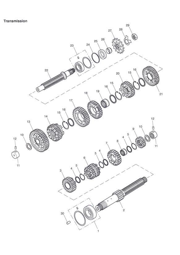 2005 Triumph Speed Four Needle bearing. Transmission