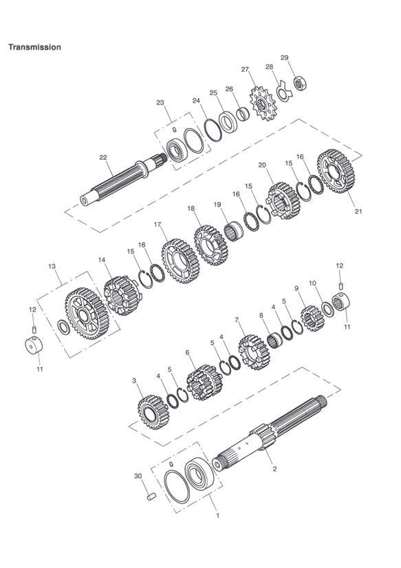 2000 Triumph TT600 Sprocket. Engine, Transmission