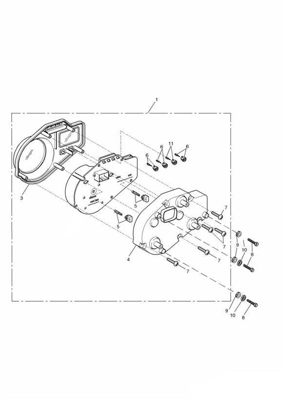 2002 Triumph TT600 Bulb asm. + 186150. System, Instruments