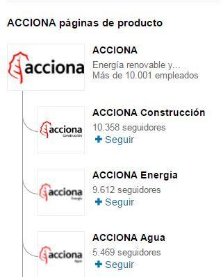 perfil de empresa en linkedin Acciona