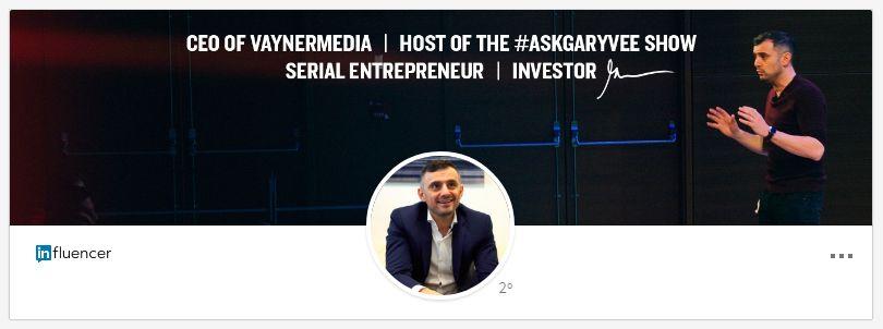 Imagen de fondo en LinkedIn: Gary Vaynerchuk