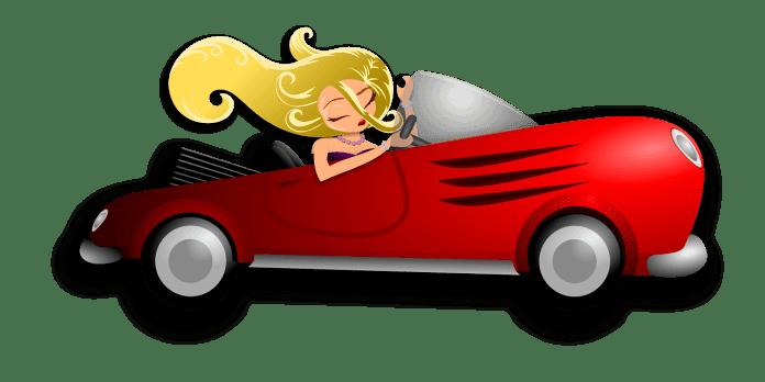 blondă la volan