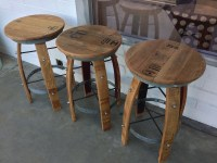 Wine Barrel Bar Stools. Trendy Wine Barrel Bar Stools With ...