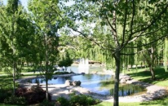 The fountains and water features of Sycamore Park