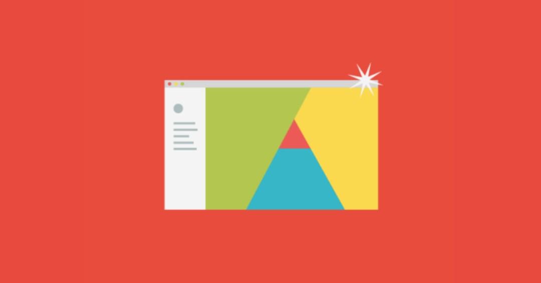 abstract illustration of online portfolio
