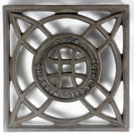 """Ober Square No. 1: 4 3/8"""" square, CI (Cast Iron)"""
