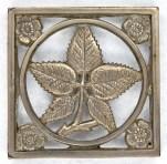 """Ober Square Leaf: 4 1/4"""" square, NPCI"""