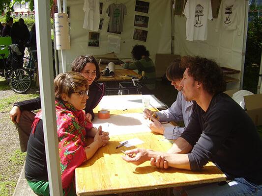 L'atelier de sérigraphie avec les ateliers du 15