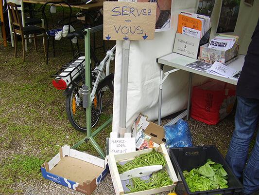 Des restes non utilisés pour le repas Resto Trottoir