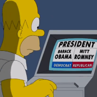 Homer Simpson Votes for President