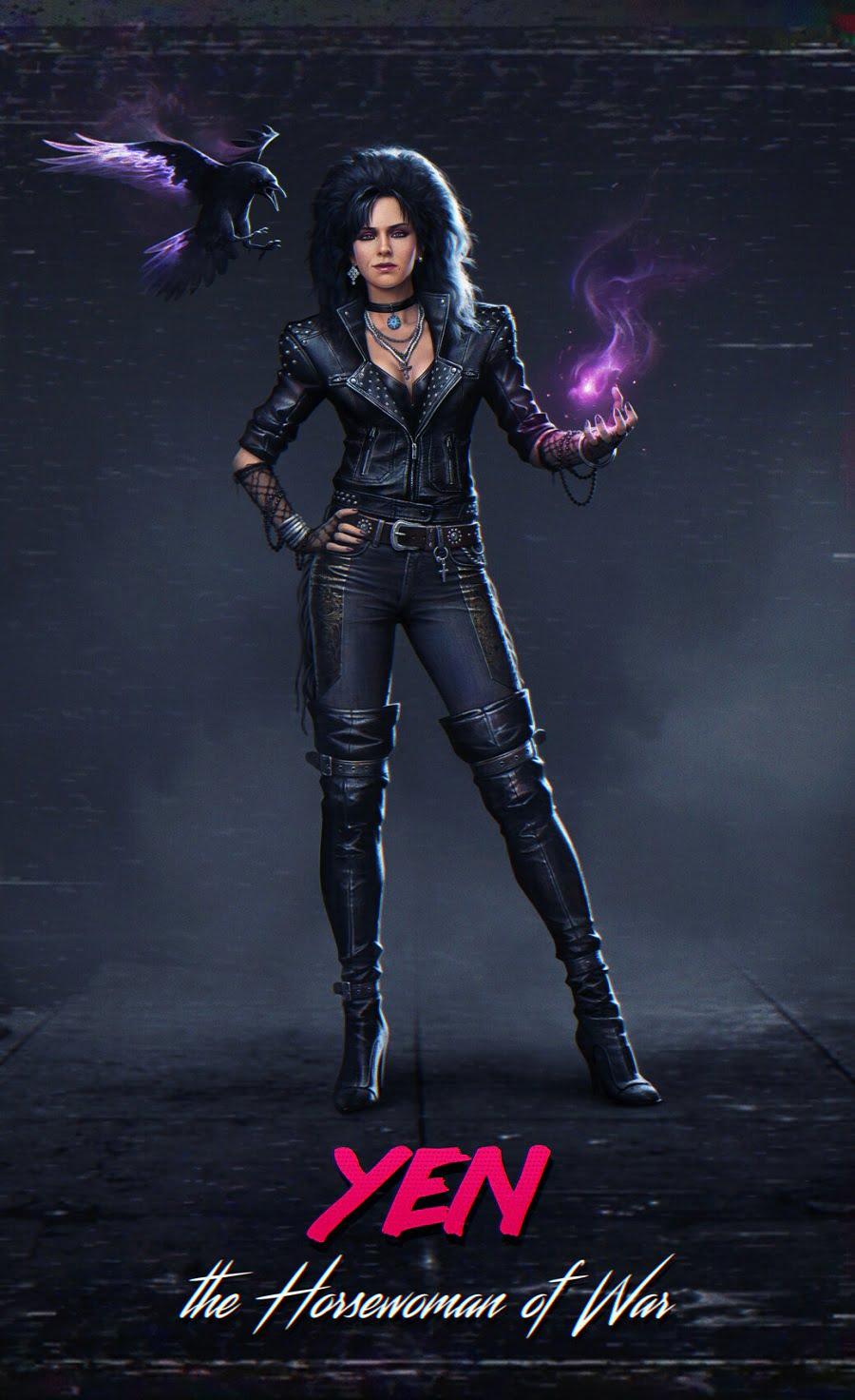 Artista reimagina personagens The Witcher 3 nos anos 1980 2