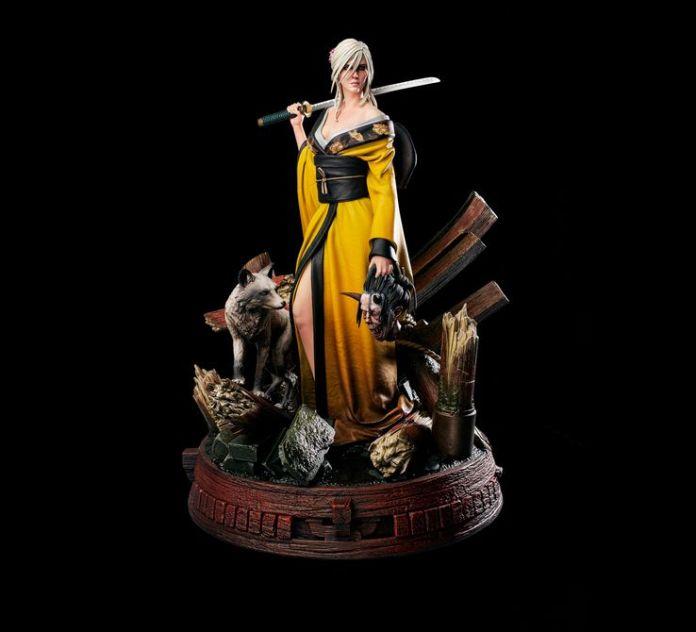 The Witcher: CD Projekt RED revela estatueta de Ciri usando um kimono 1