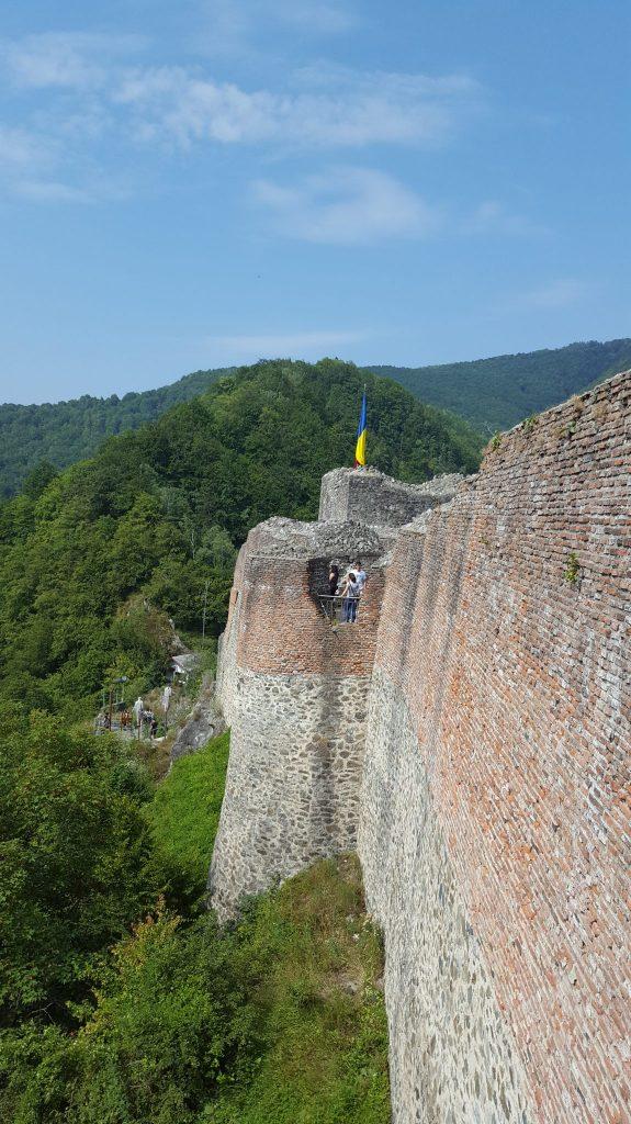 Zid de aparare - Cetatea Poenari