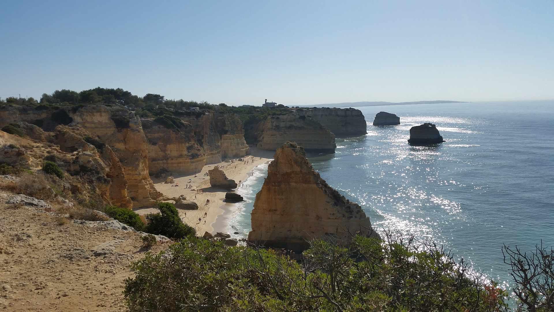 Lagao - Algarve -Praia de Marinha - morning overview