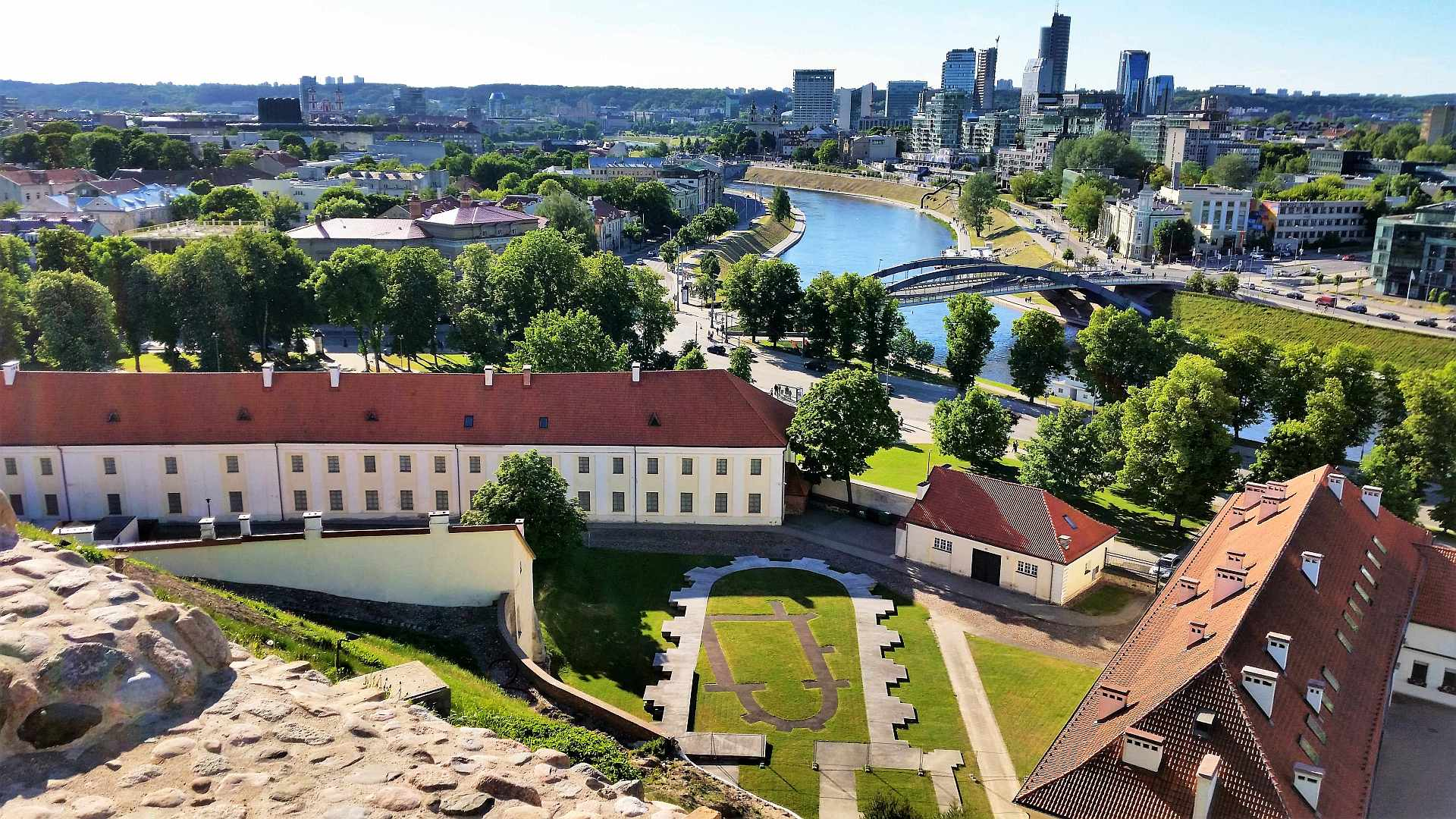 View from the upper castle over the new town of Vilnius - trivo.ro