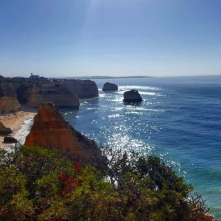 Praia da Marinha in the morning