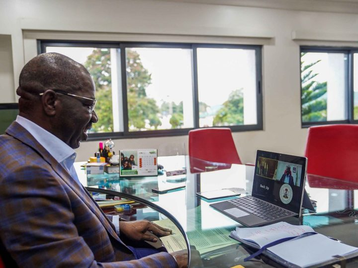 President Buhari maintains cordial relationship with Obaseki (PHOTOS)