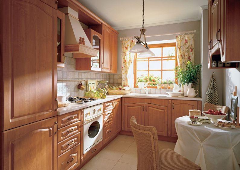 Дизайн кухни 9 кв.м. в классическом стиле