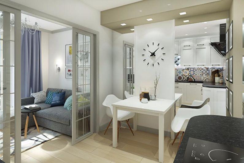 дизайн интерьера маленькой квартиры 2